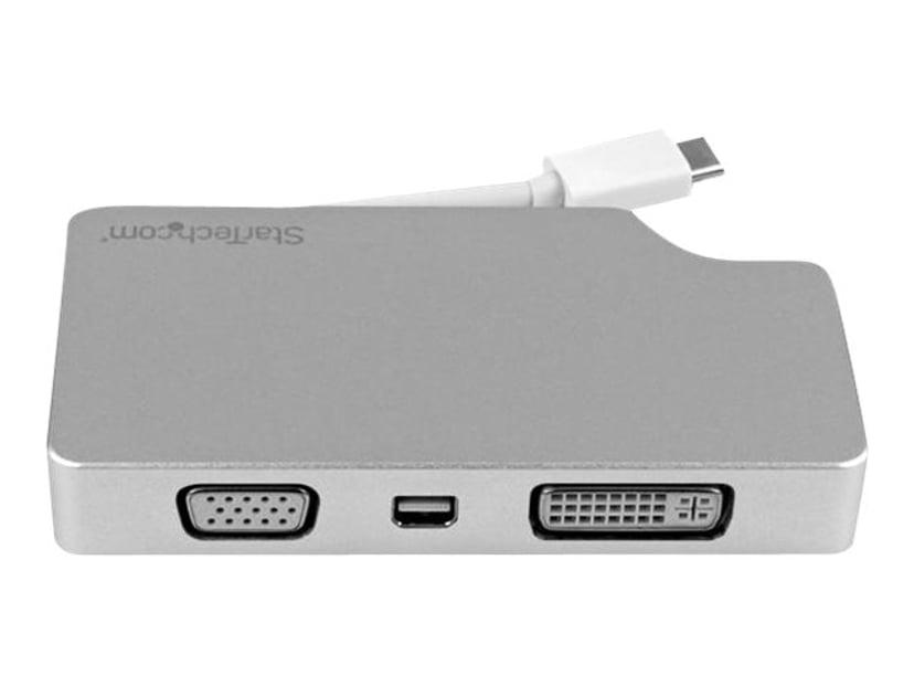 Startech Travel A/V Adapter USB-C to VGA DVI HDMI Mini DisplayPort