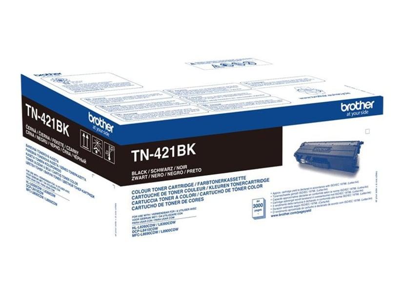 Brother Toner Sort TN-421BK 3K - DCP-L8410/Hl-L8260
