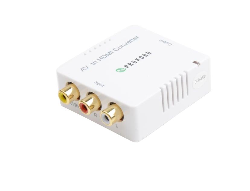 Prokord Av To HDMI Converter (Mini) RCA Hona HDMI Hona Vit