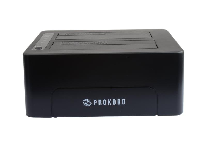 Prokord USB 3.0 dockingstation med diskkloning