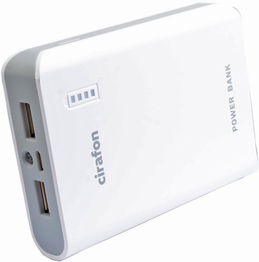 Cirafon Powerbank 8,000milliampere hour 2A Hvit