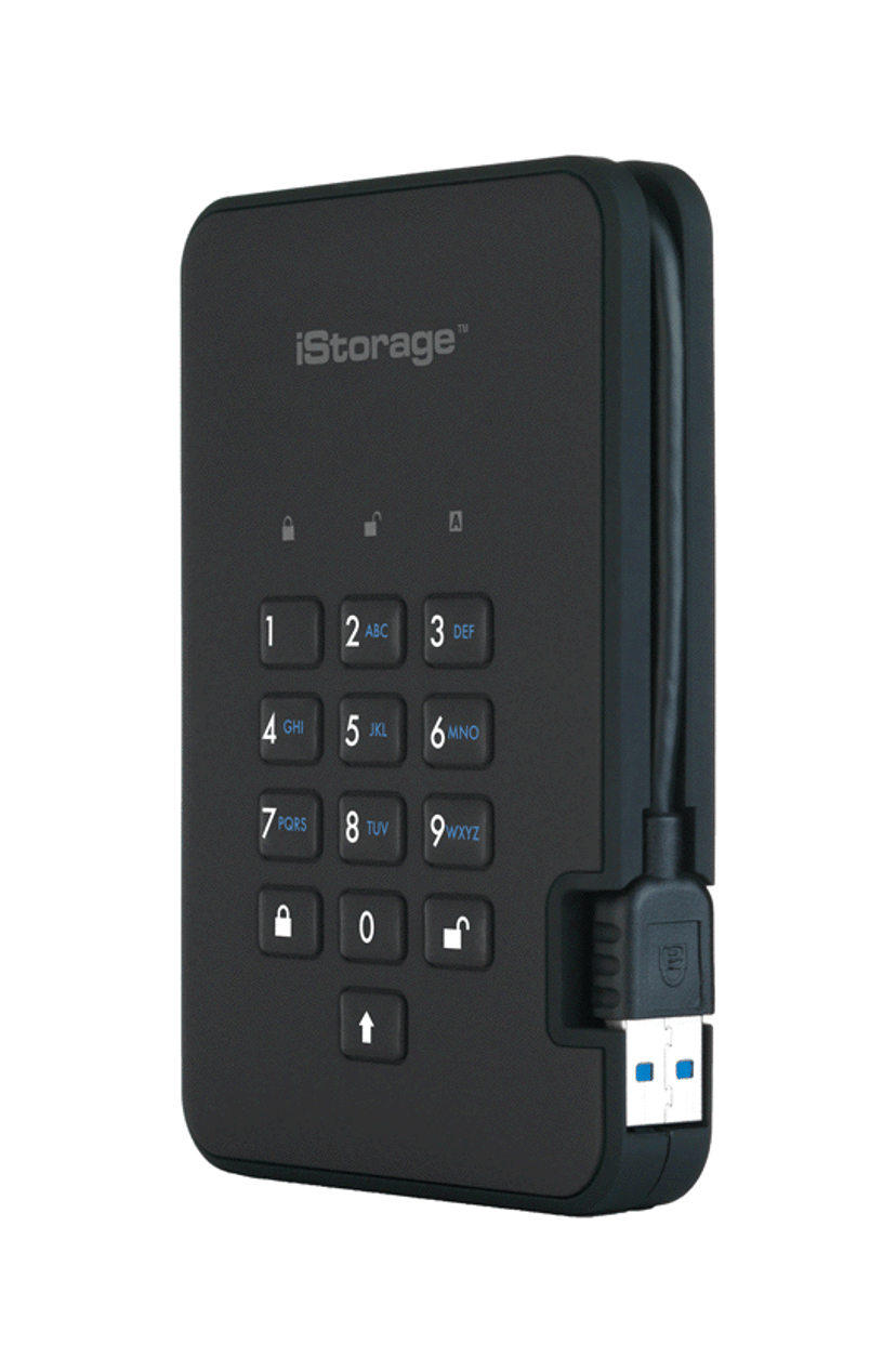 Istorage Diskashur2 SSD 256-bit 1TB Svart