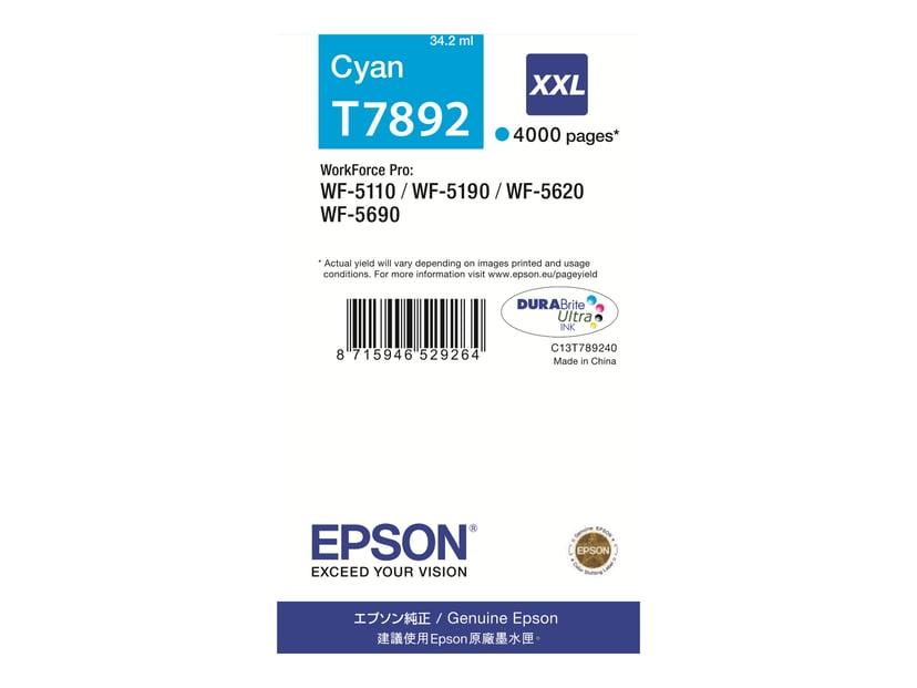Epson Blekk Cyan T7892 XXL