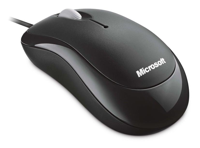 Microsoft Basic 800dpi Mus Kablet Svart