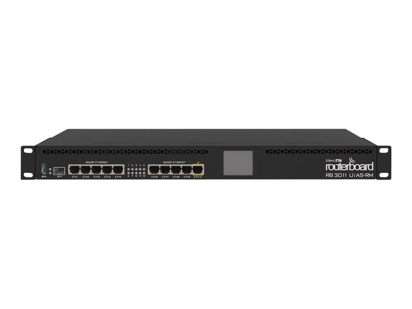 Mikrotik RB3011UiAS-RM 10-port Gigabit Router