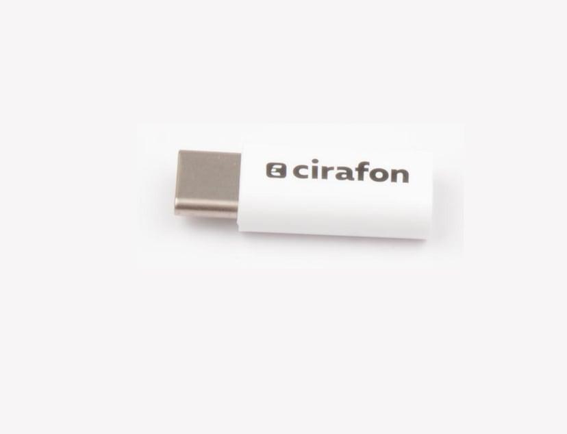 Cirafon USB-C To Micro Adapter Ekte hvitt