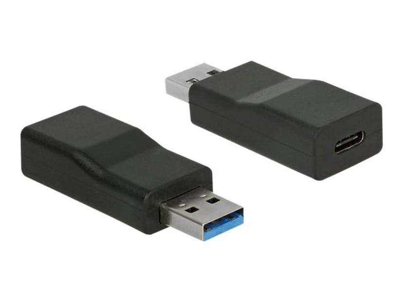 Delock USB-adapter 9-stifts USB typ A Hane 24-stifts USB-C Hona