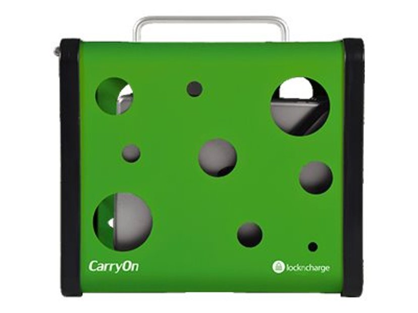 "LocknCharge CarryOn 5 Bay Charging Station Green, laddstation för 7""-10"" tablets, iPad m.fl."