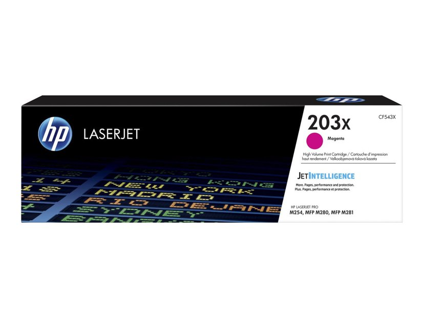 HP Värikasetti Magenta 203X 2.5K - CF543X