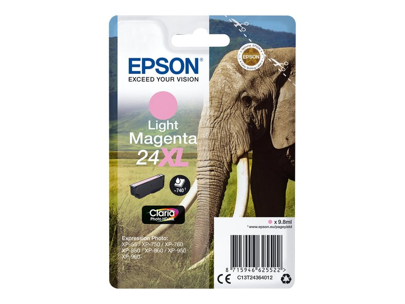 Epson Blekk Ljus Magenta 24XL - XP-750/XP-850/XP-950 Blister