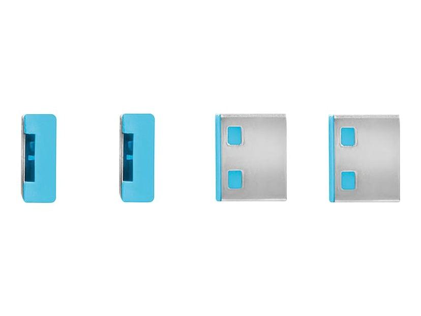 Lindy Port Blocker USB Blue 4-pack