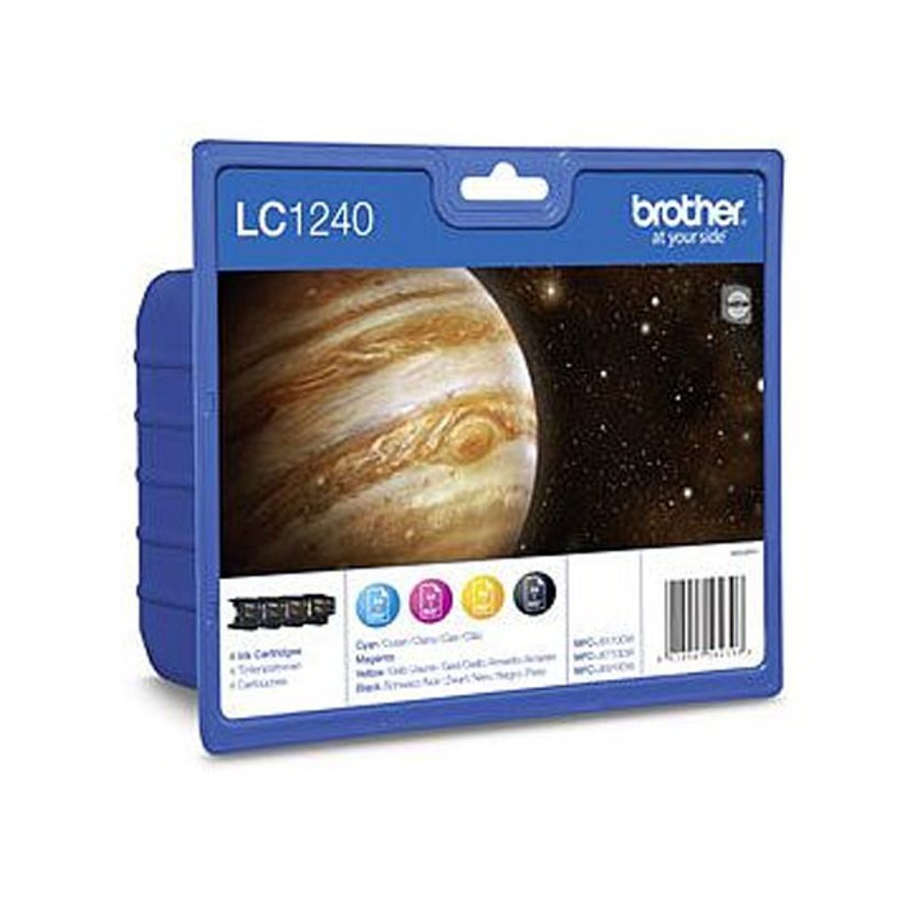 Brother Inkt Kit (B/C/Y/M) LC1240VALBPDR - MFC-J6510DW