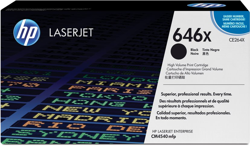 HP Toner Svart 646X 17K - CE264X
