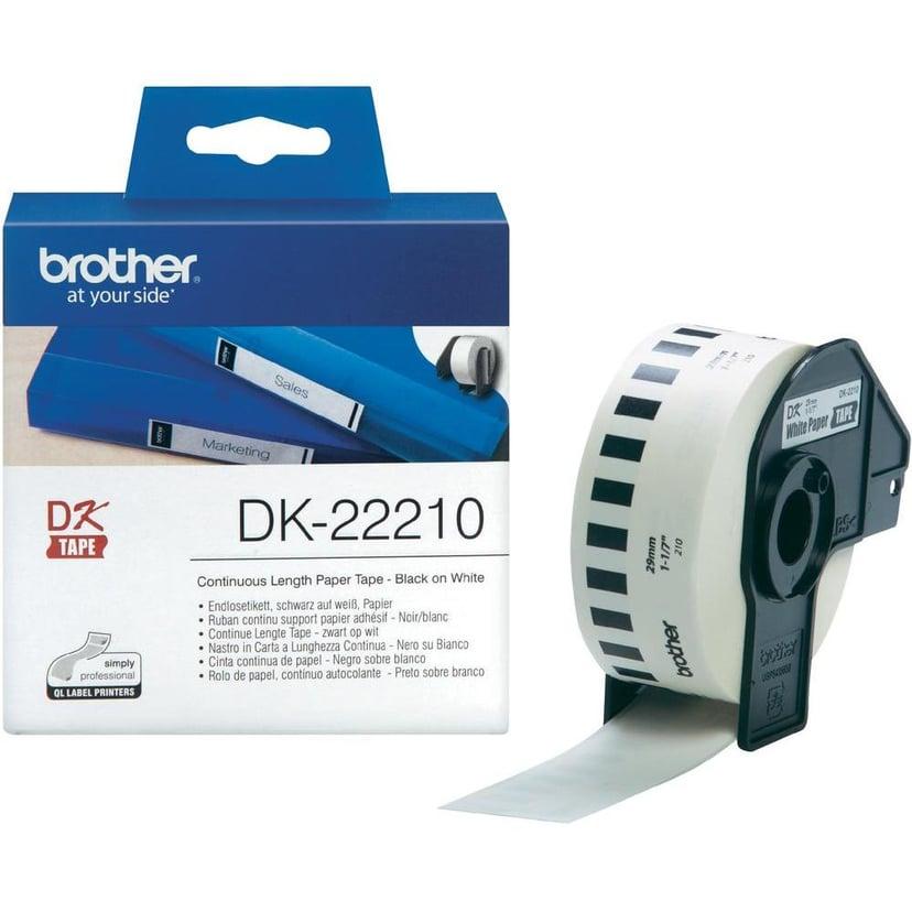 Brother Tape Papper 29mm X 30,48m Vit