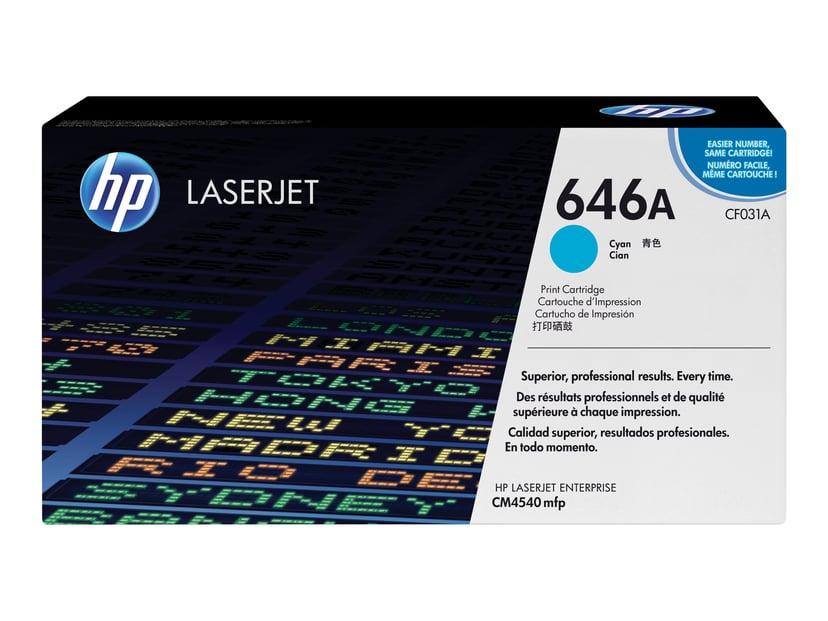 HP Toner Cyan 646A 12.5K - CF031A