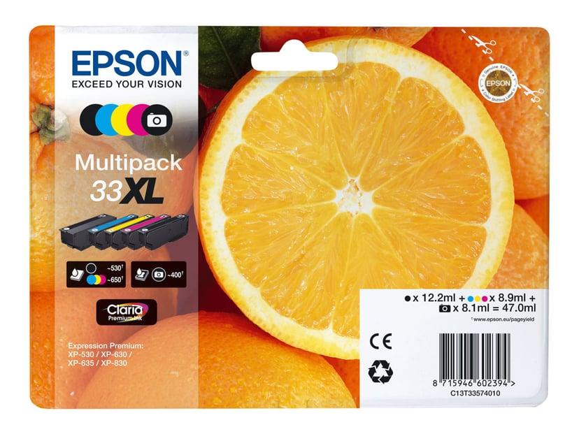 Epson Bläck Multipack (B/C/M/Y/PB) Claria 33XL -XP-530