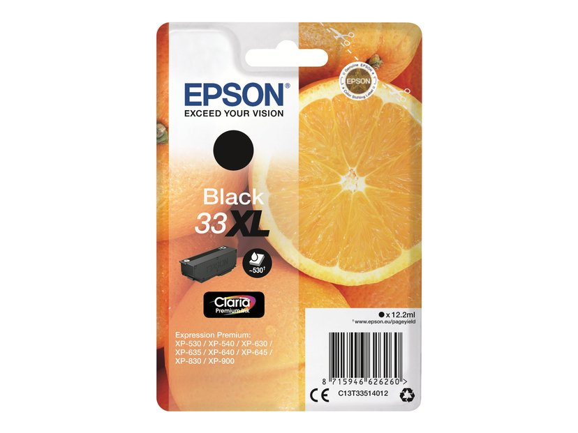 Epson Blekk Svart Claria Premium 33XL - XP-530