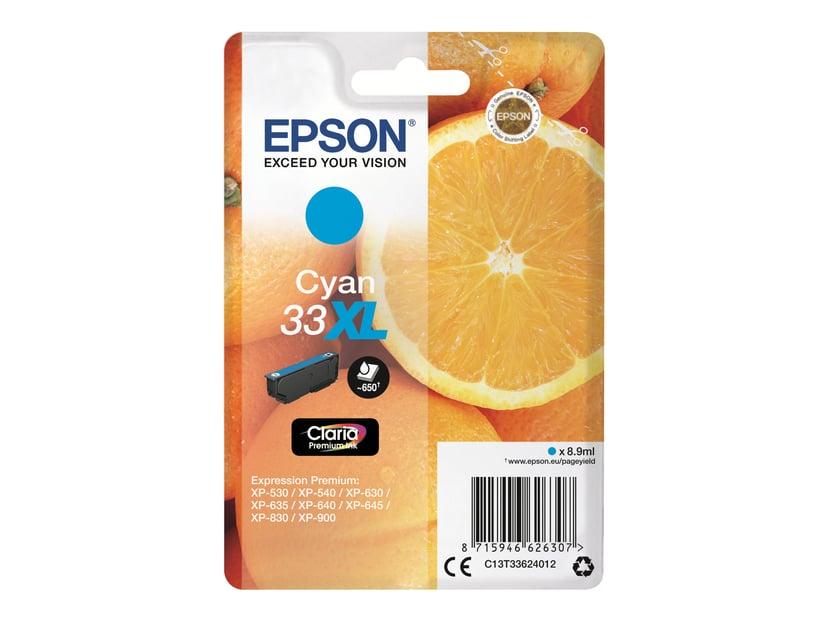 Epson Blekk Cyan Claria Premium 33XL - XP-530