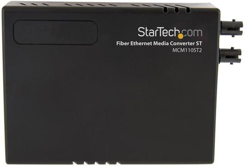Startech 10/100 MM Fiber Copper Fast Ethernet Media Converter ST 2 km