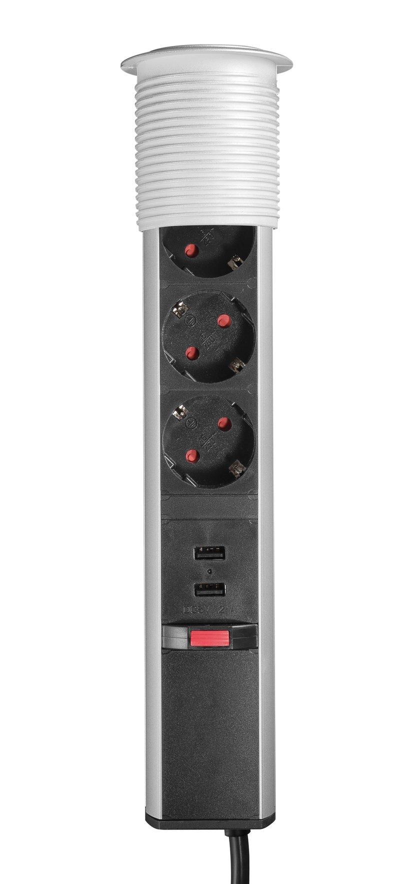 Prokord Popup Konferens, Cee 7/4/USB/Svart