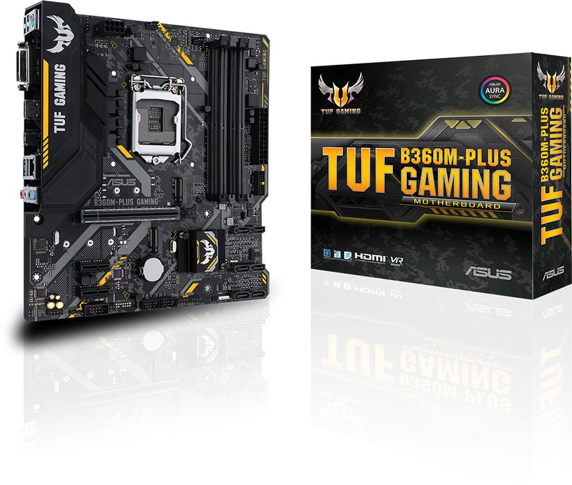ASUS TUF B360M-Plus Gaming Micro-ATX Bundkort