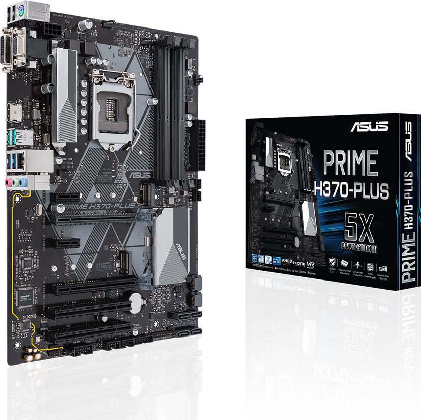 ASUS Prime H370-Plus ATX Hovedkort