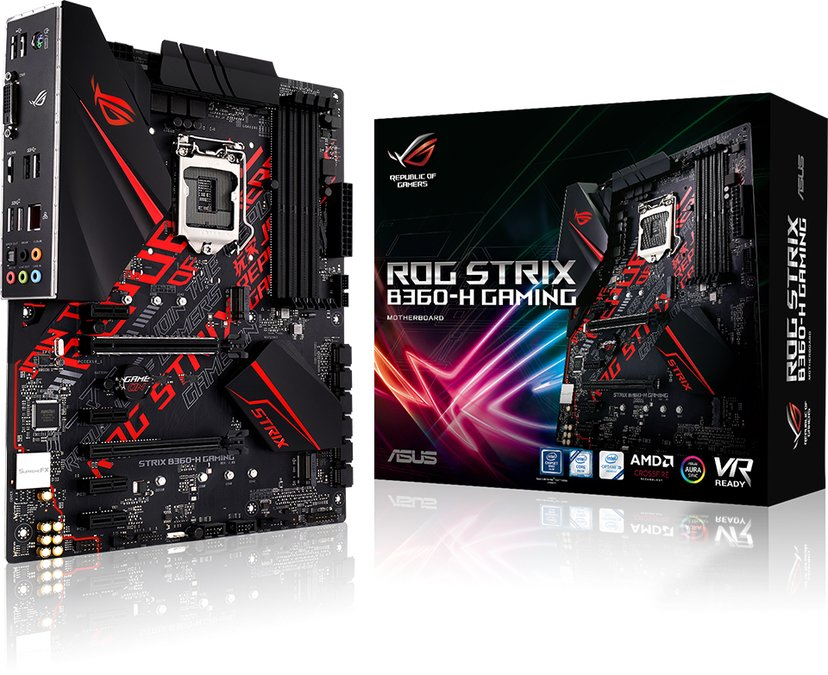 ASUS ROG Strix B360-H Gaming ATX Hovedkort
