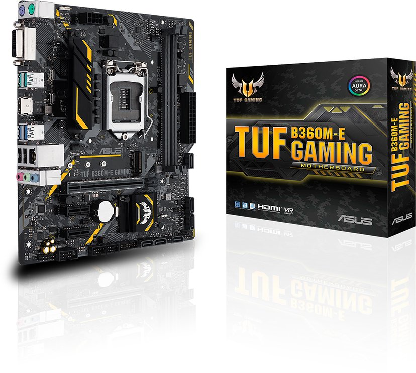 ASUS TUF B360M-E Gaming Micro ATX Moderkort