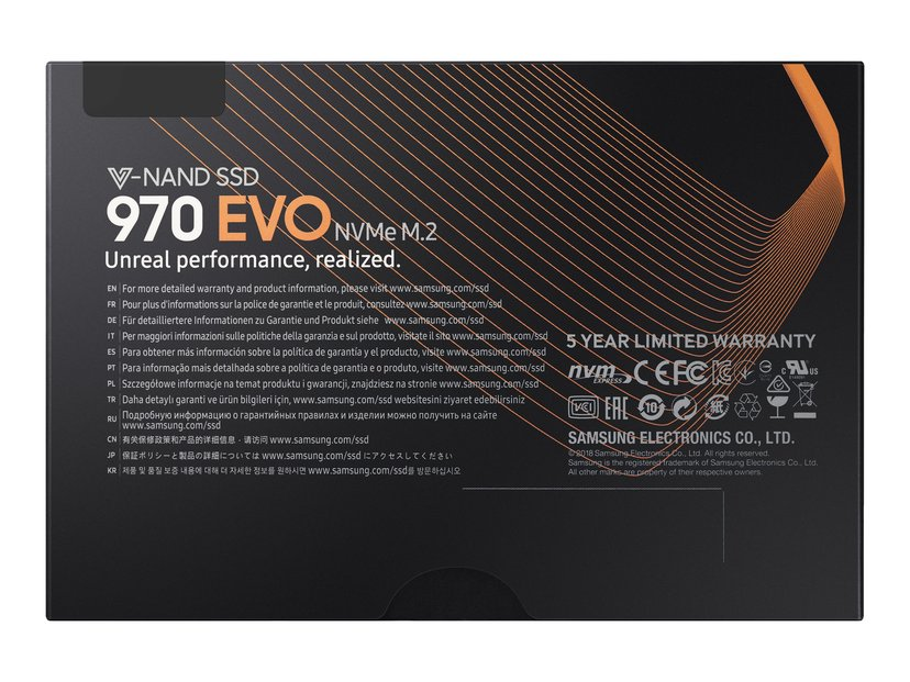 Samsung 970 Evo 500GB M.2 2280 PCI Express 3.0 x4 (NVMe)