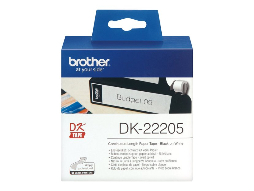 Brother Tape Paper 62mm X 30.5M Hvit