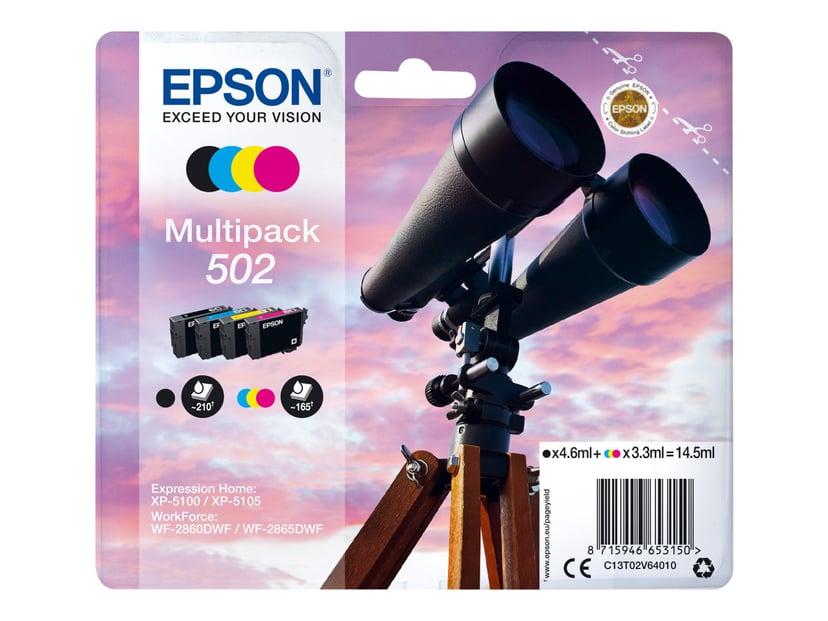 Epson Blekk Multipack (BK/C/M/Y) 502 - XP-5100/5105/WF-2860
