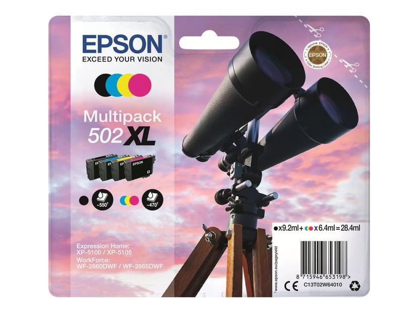 Epson Blekk Multipack (BK/C/M/Y) 502XL - XP-5100/5105/WF-2860