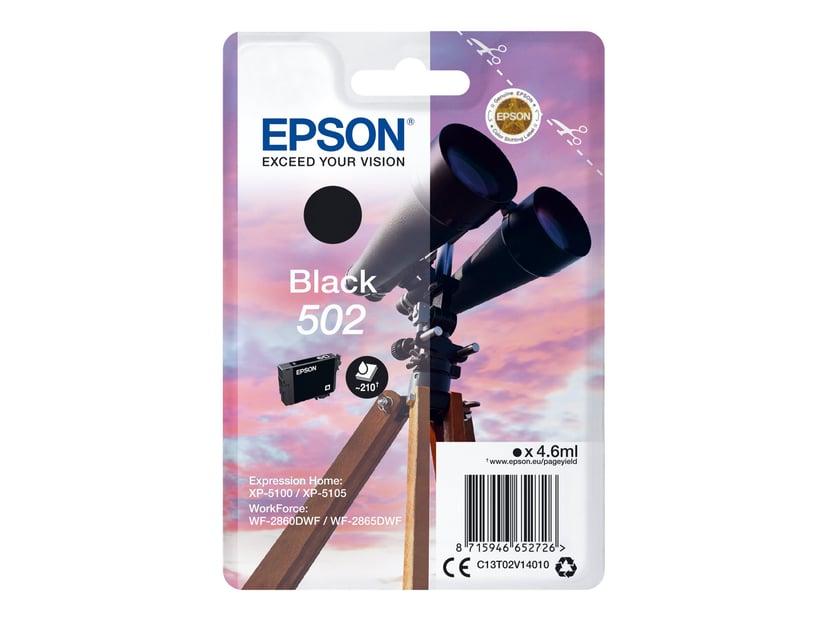 Epson Blekk Svart 502 - XP-5100/5105/WF-2860/2865