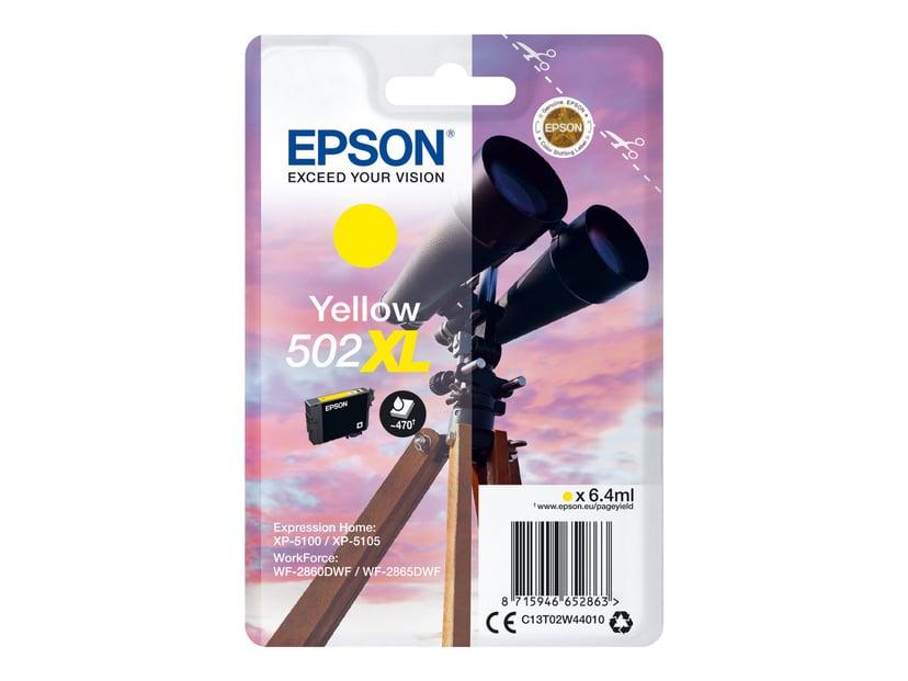Epson Blekk Gul 502XL - XP-5100/5105/WF-2860/2865