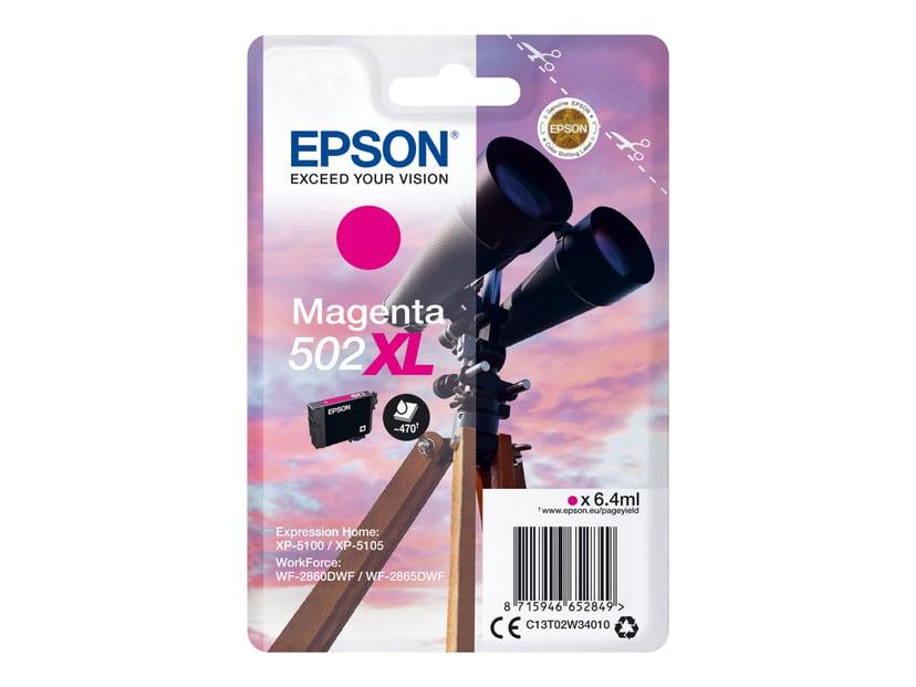Epson Blekk Magenta 502XL - XP-5100/5105/WF-2860/2865