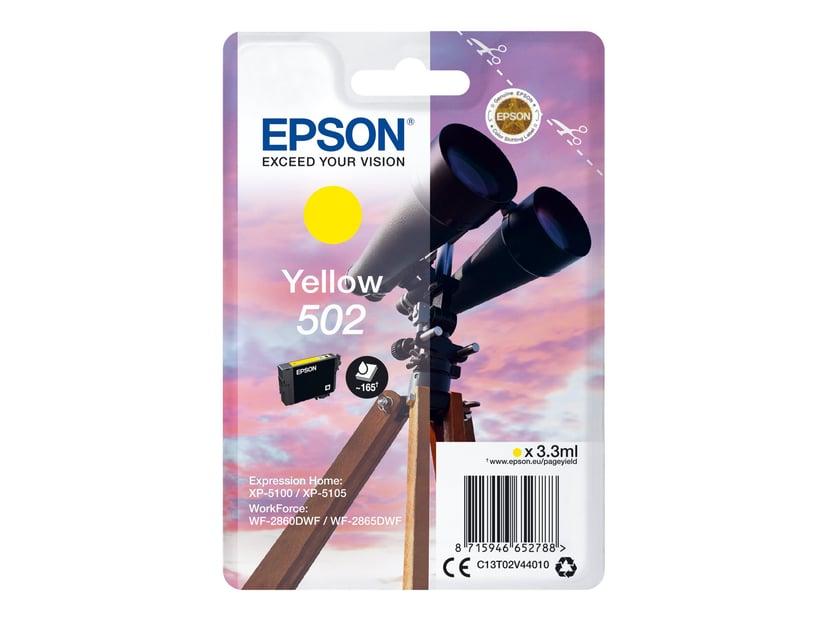 Epson Blekk Gul 502 - XP-5100/5105/WF-2860/2865
