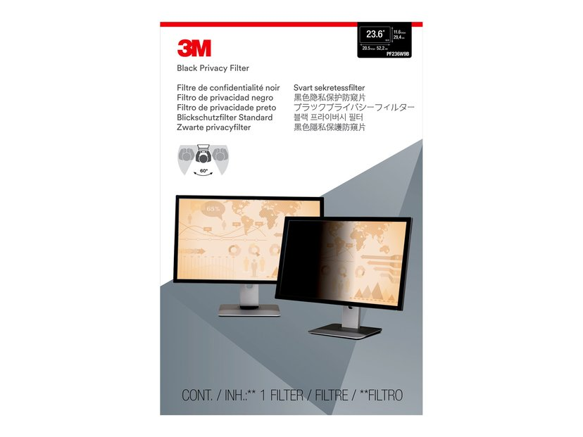 """3M Personvernfilter for 23,6"""" widescreen 23.6"""" 16:9"""