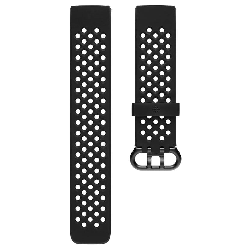 Fitbit Sportarmbånd Svart Large - Charge 3