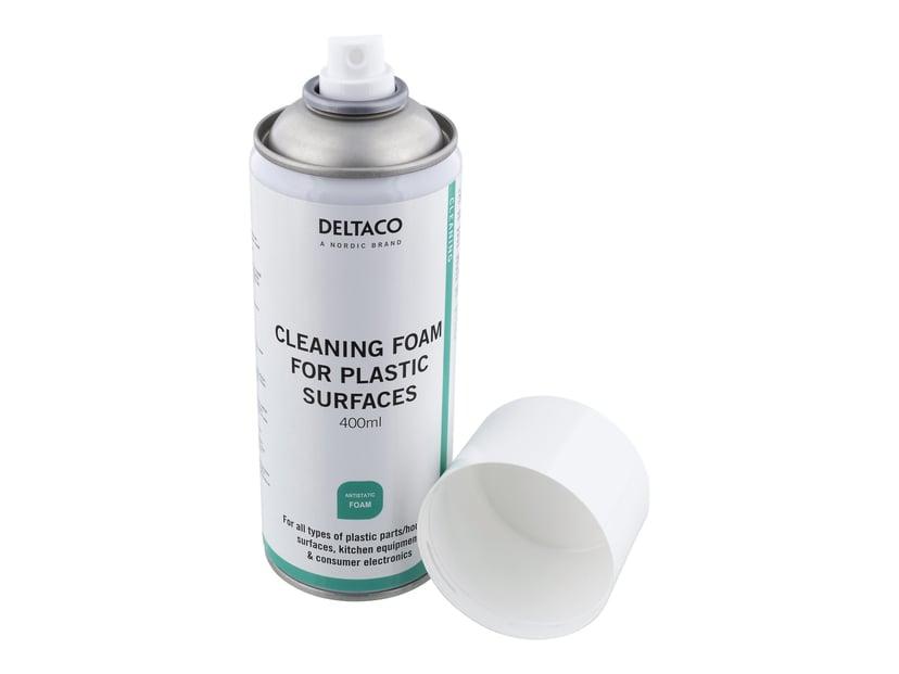 Deltaco Rengjøringsskum 400 ml - Plastflater