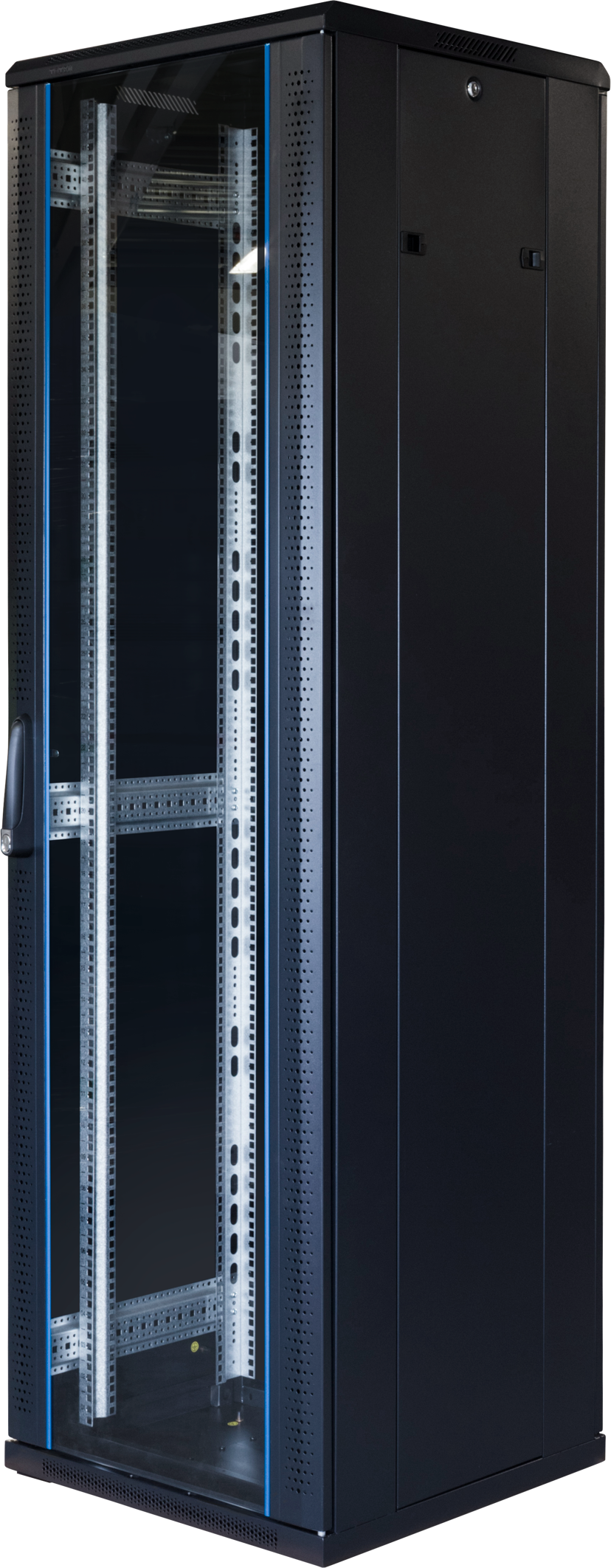 "Toten G6 19"" Rackskap 42U 600x600 Glass/Perforert Dør"