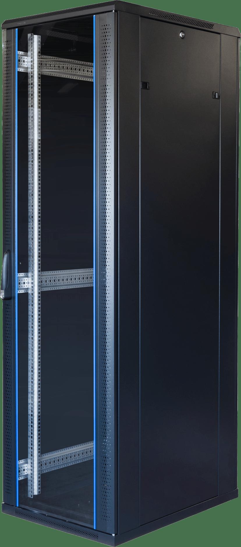"Toten G6 19"" Rackskap 42U 600x800 Glass/Perforert Dør"