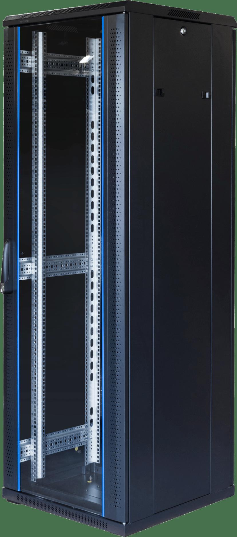 "Toten G6 19"" Rackskåp 37U 600x600 Glas/Metalldörr"