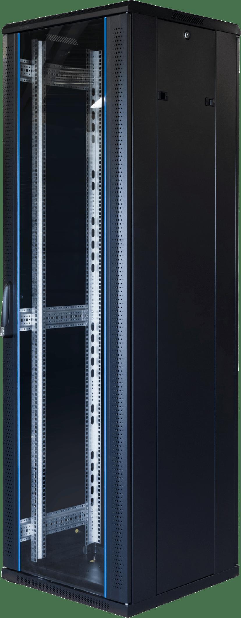 "Toten G6 19"" Rackskåp 42U 600x600 Glas/Metalldörr"
