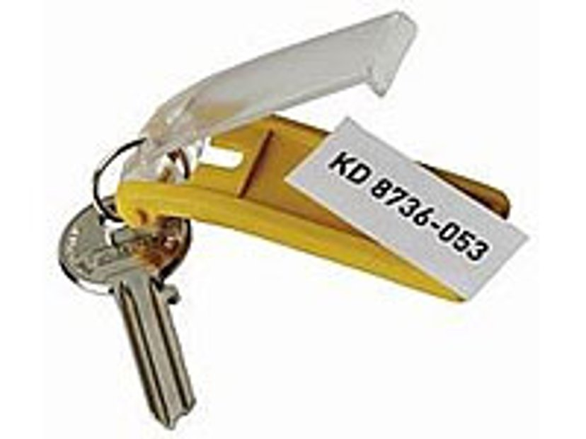 Durable Nyckelbricka Key Clip Sort.Färger 6st