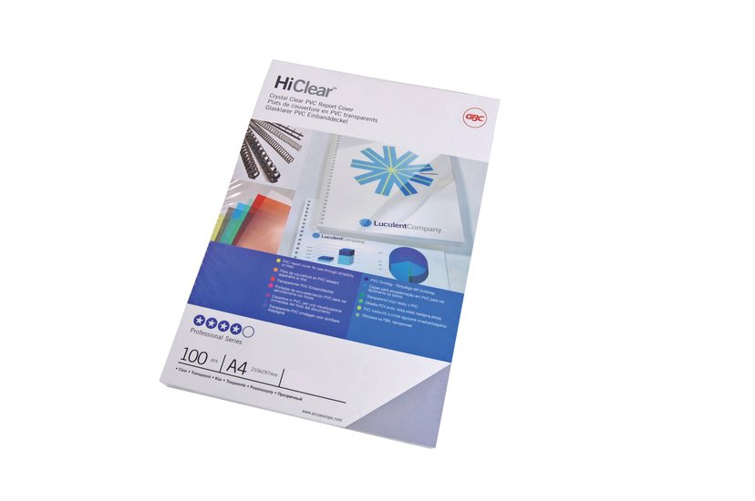 GBC Innbindingsomslag HiClear A4 300mic 100 stk