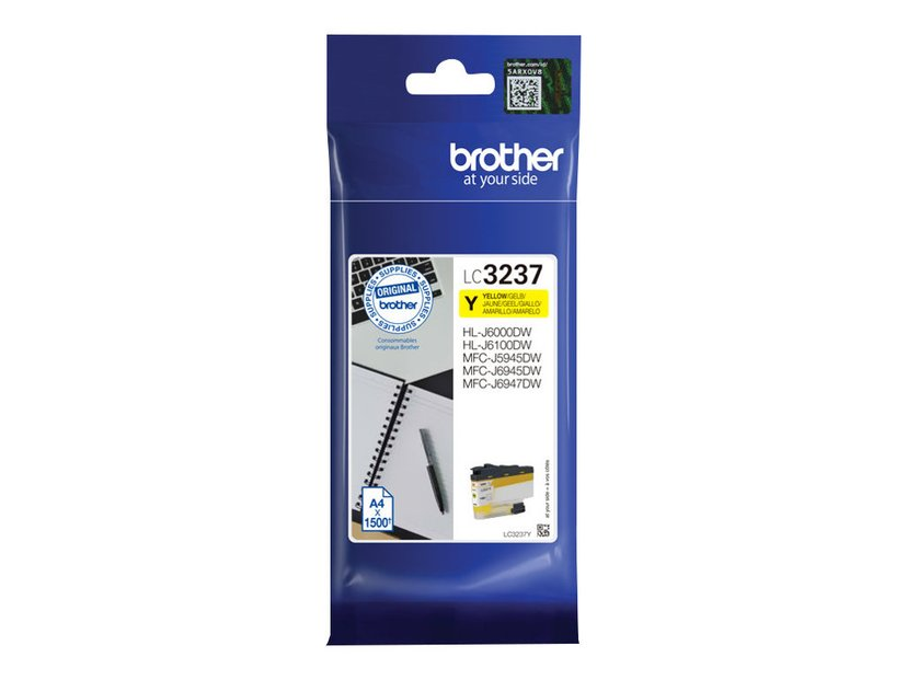 Brother Blekk Gul LC-3237Y 1.5K