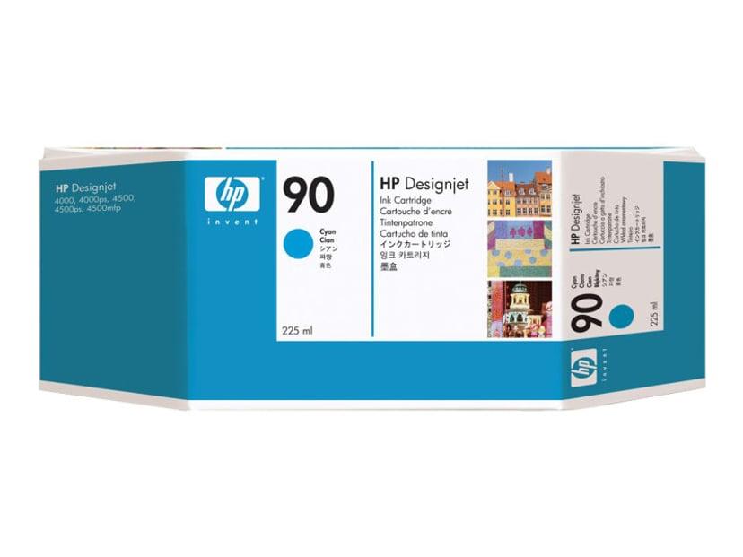 HP Blæk Cyan No.90 - DJ 4000 225 ML
