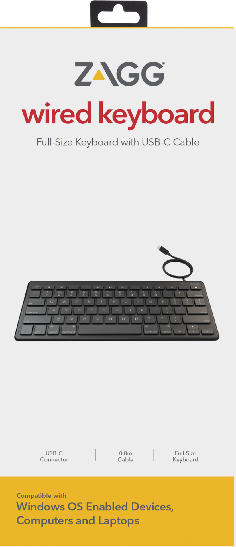 Zagg Universal Keyboard USB-C Wired Nordic