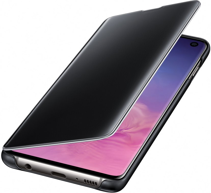 Samsung Clear View Cover EF-ZG973 Samsung Galaxy S10 Zwart