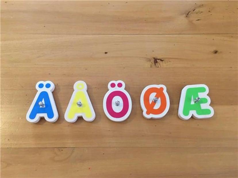 Marbotic Smart Letters Nordic (SE/NO/DK) Med Nordiske Bokstaver